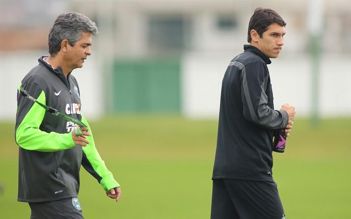 Ney Franco e Lucio FLavio Coritiba (Foto: Giuliano Gomes / PR Press)