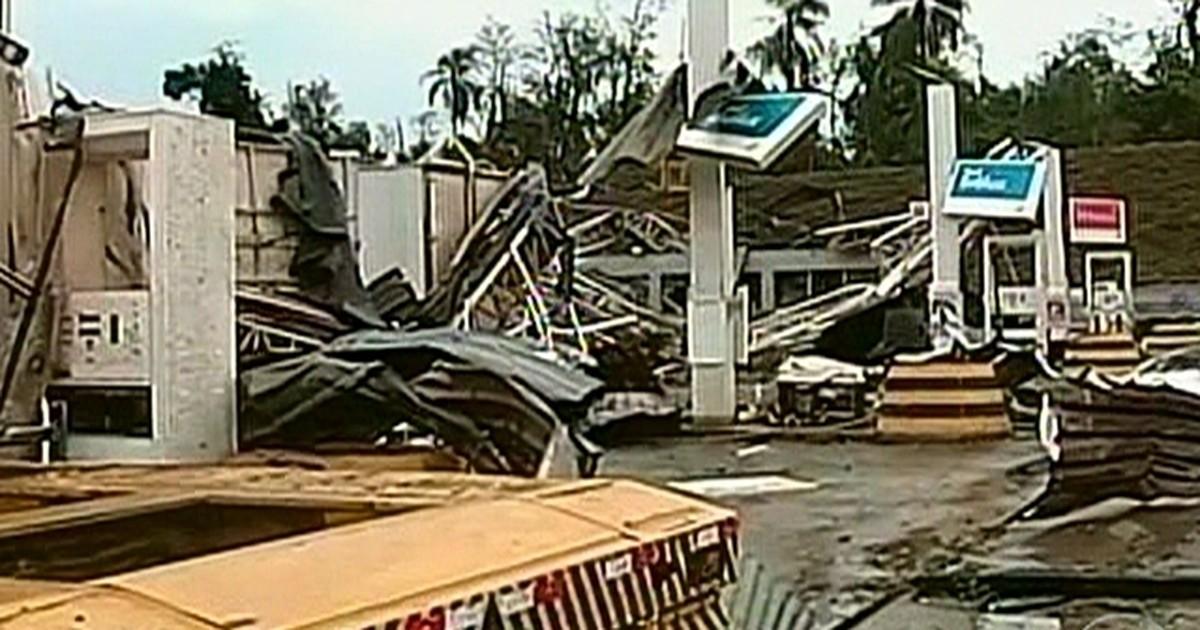 Tornado destrói 200 casas na cidade Taquarituba, no interior de São Paulo