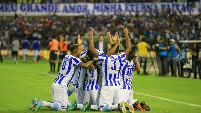 CSA comemora gol - CSA x ASA (Foto: Ailton Cruz/Gazeta de Alagoas)