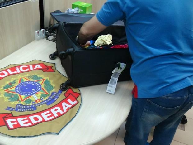 RN - apreensão droga sintética Aeroporto Internacional de Natal (Foto: PF/Divulgação)