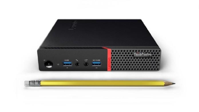 Novo desktop compacto da Lenovo (Foto: Divulgação/Lenovo)