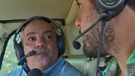 Joaquim Lopes acompanha um dia do repórter aéreo Genilson Araújo