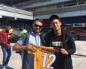 """Presidente do time de Falcão visita Messi e Neymar em """"intercâmbio"""""""