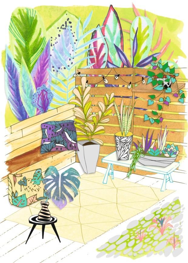 Ilustração coluna No Jardim de Ananda Apple - fevereiro 2017 (Foto: Ilustração Patrícia Sodré / Editora Globo)