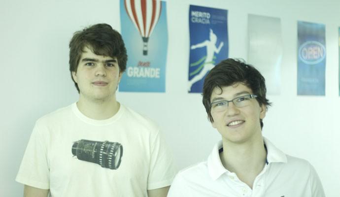 Henrique Dugubras e Pedro Franceschi, fundadores da startup Pagar.me, responsável por sistema de pagamento on-line.