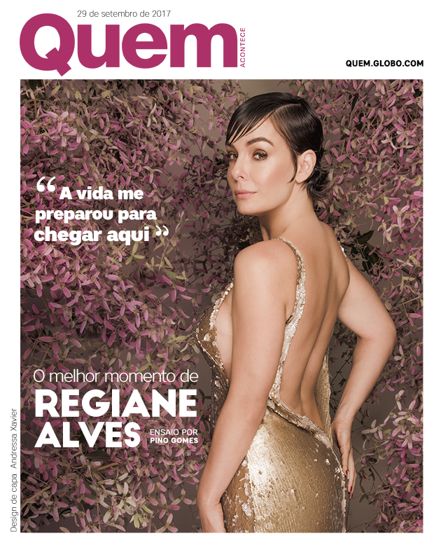 Regiane Alves (Foto: Pino Gomes/Ed Globo/ Design: Andressa Xavier)