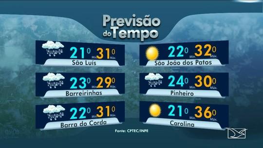 Veja a previsão do tempo para este sábado (22) no Maranhão