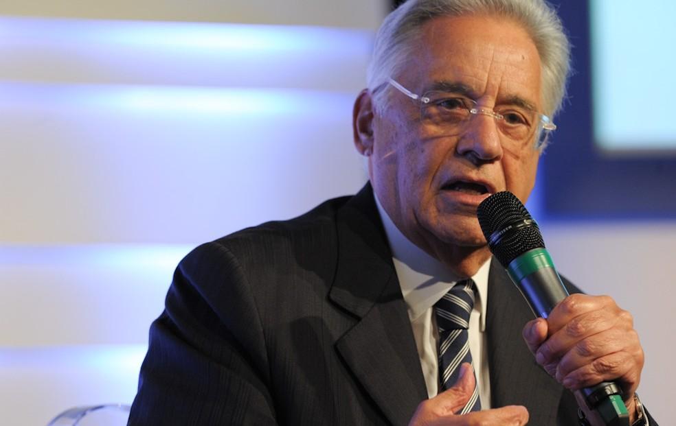 Ex-presidente Fernando Henrique Cardoso na Assembleia Geral da Sociedade Interamericana de Imprensa (Foto: Flavio Moraes/G1)