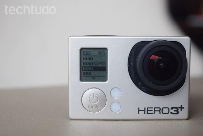 Selecione 1080p nas configurações da GoPro (Foto: Juliana Pixinine/TechTudo)