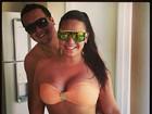 Mulher Melancia posta foto de biquíni: 'Curtindo um solzinho com meu love'