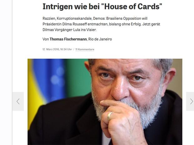 Jornal alemão comparou política brasileira com House of Cards (Foto: Reprodução / Die Zeit)