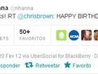 Chris Brown chama Rihanna pelo primeiro nome para dar parabéns