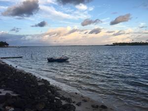 Entardecer em Barra do Cunhaú (Foto: Divulgação)