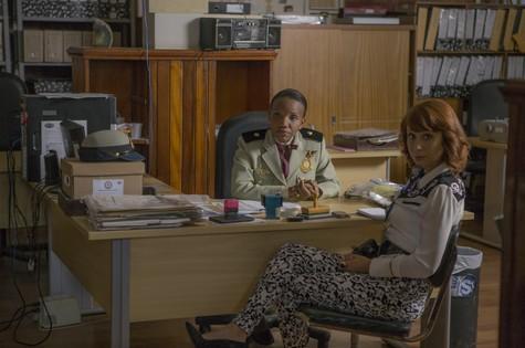 Mary Sheila e Katiuscia Canoro rodam filme (Foto: Dan Behr)