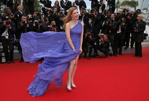 Jessica Chastain na première do filme Foxcatcher, no Festival de Cannes (Foto: Reuters)