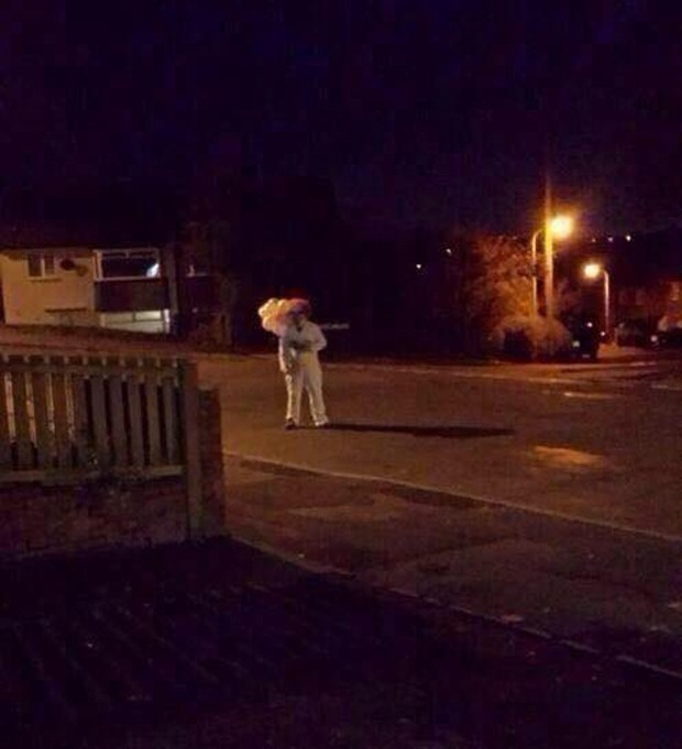 Palhaço é visto em Colchester, na Inglaterra (Foto: Reprodução)