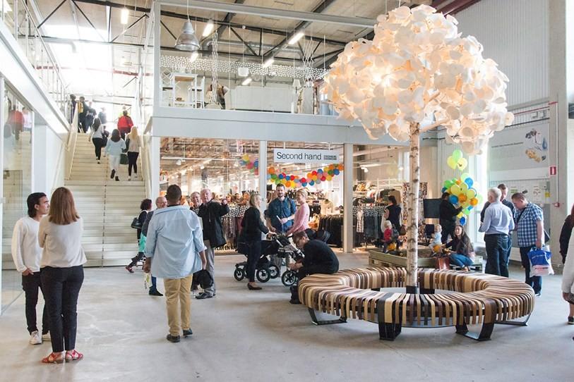 Shopping na Suécia vende apenas produtos de segunda mão (Foto: Divulgação)