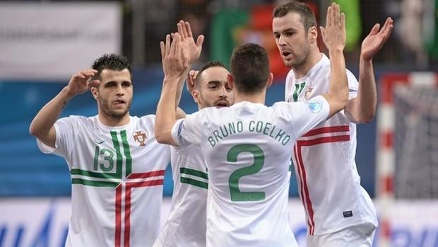 Portugal comemora mais um gol na vitória diante da Holanda (Foto: Sportsfile/ Divulgação)
