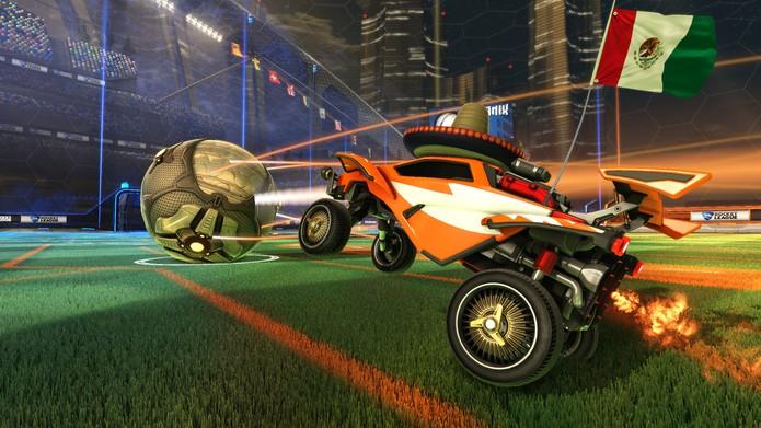 Quem diria que combinar carros com futebol daria tão certo? (Divulgação/ Psyonix)