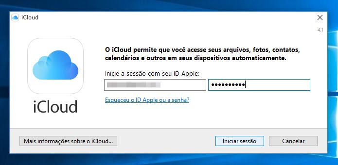 Faça login em sua conta Apple (Foto: Reprodução/Helito Bijora)