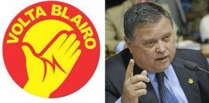 Imagem que circula pela internet pede a volta do senador Blairo Maggi (PR-MT) (Foto: Reprodução/ Geraldo Margela/Agência Senado)