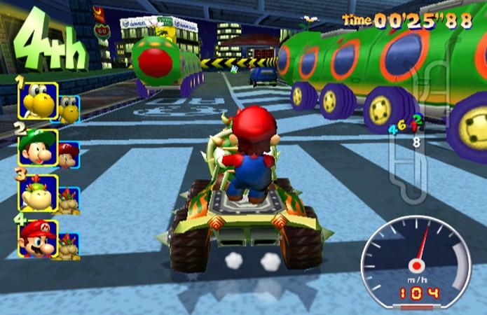 Mario Kart: Double Dash!! é um dos mais caóticos jogos da série (Foto: Reprodução/The Next Level GameCube Reviews)