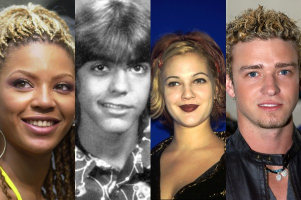 Beyoncé, George Clooney, Drew Barrymore e Justin Timberlake (Foto: Getty Images/Yearbook Library)