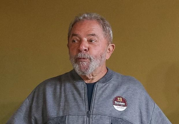 O ex-presidente Luiz Inácio Lula da Silva, durante votação no primeiro turno das eleições municipais 2016 (Foto: Ricardo Stuckert/Instituto Lula)