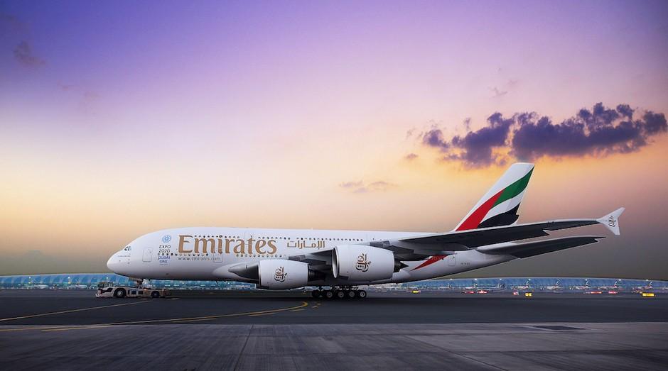 A380 da Emirates começa a ser usado na rota Guarulhos-Dubai (Foto: Divulgação)
