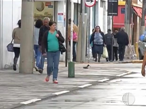 Comércio em Mogi das Cruzes. (Foto: Reprodução/TV Diário)