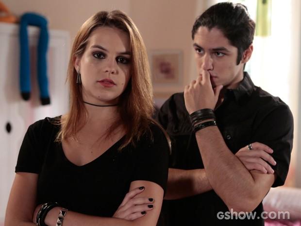 Leone confessa ser emocional, enquanto Bianca usa mais a cabeça (Foto: Felipe Monteiro / TV Globo)