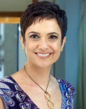Sandra Annenberg nos bastidores (Foto: Domingão do Faustão / TV Globo)