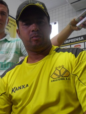 Luis Fernando Goulart; preparador físico; Criciúma (Foto: João Lucas Cardoso)