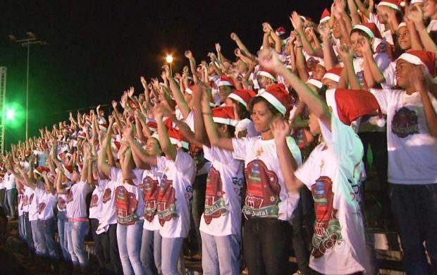Apresentação de coral em comemoração ao Natal acontece em Boa Vista (Foto: Roraima TV)