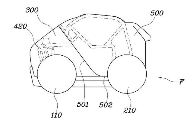 Hyundai patente de carro dobrável (Foto: Divulgação)