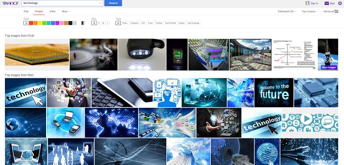 Resultados de busca por imagens agora também vêm do Flickr (Foto: Reprodução/Aline Jesus)