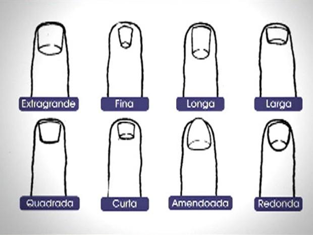 Conheça os formatos de unhas antes de fazer a sua análise (Foto: Mais Você / TV Globo)