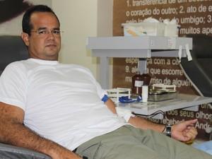 Major da polícia, João Amorim também foi um dos voluntários (Foto: Fernando Brito/G1)