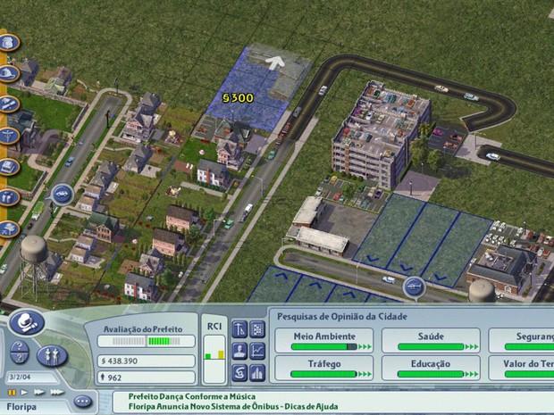 Cidade do SimCity vista de cima; jogo é usado em curso de ciências contábeis por professor do Rio de Janeiro  (Foto: Reprodução/Marcos Roberto Pinto)