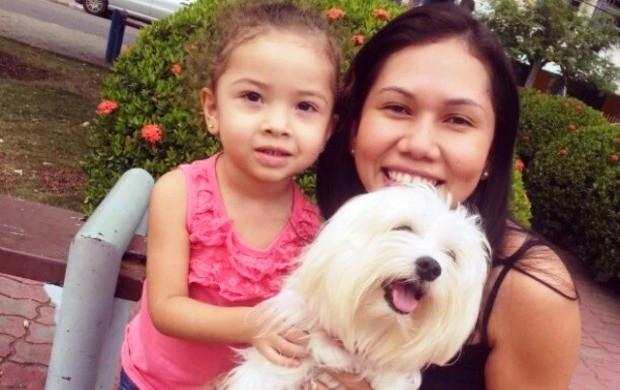 Ádria Santos conta ser uma mãe presente para a pequena Luísa (Foto: Arquivo pessoal)