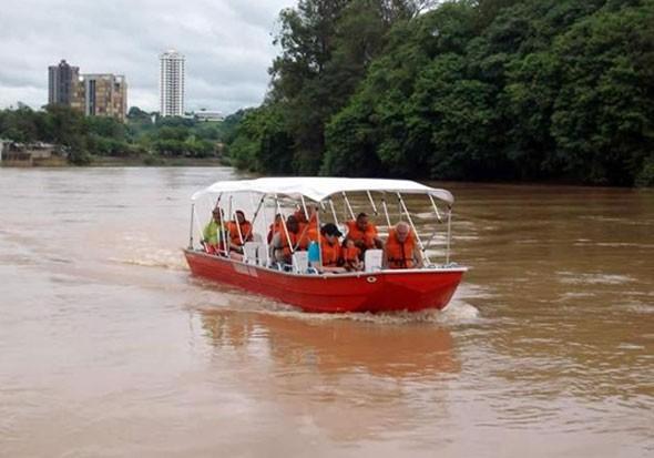 Passeio de Barco no Rio Piracicaba voltam a ser realizados (Foto: Luis Fernando Magossi/ Acervo Pessoal)