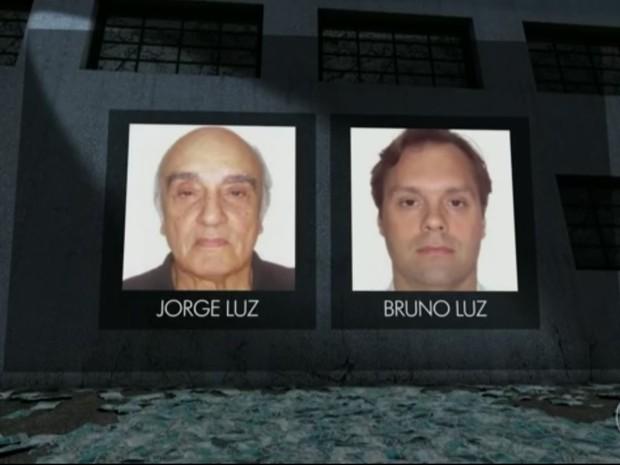 Jorge Luz e o filho Bruno Luz chegam a Curitiba nesta quinta-feira (2), segundo a Polícia Federal (Foto: Reprodução/Jornal Hoje)