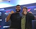 """Pezão e Roy Nelson trocam encarada por abraço em """"Media Day"""" do UFC"""