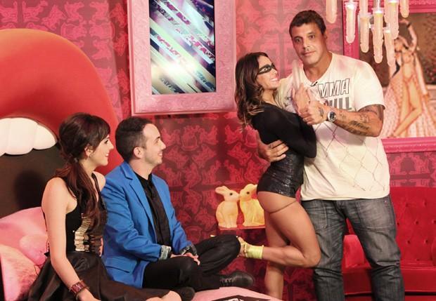 Alexandre Frota grava participação em programa da MTV (Foto: MTV)