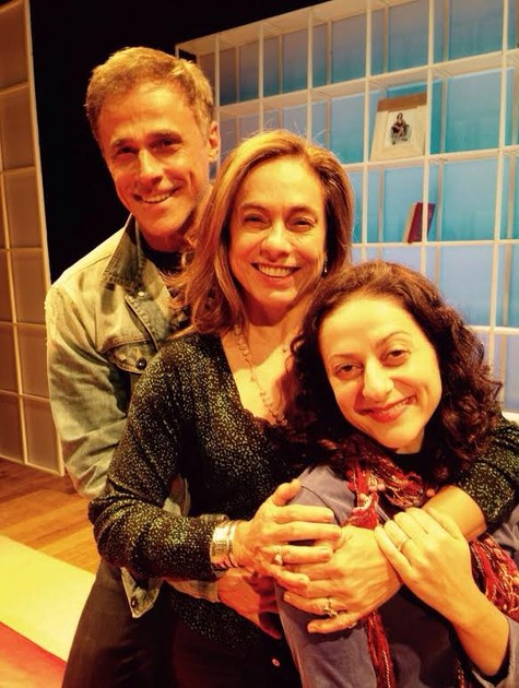 Oscar Magrini, Cissa Guimarães e Josie Antello (Foto: Arquivo pessoal)
