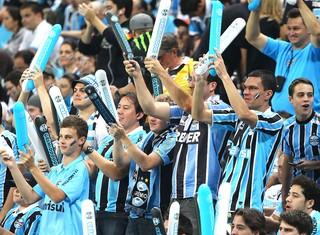 torcida Grêmio jogo Santa Fé (Foto: Lucas Uebel / Site Oficial do Grêmio)