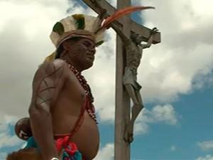 Índios ocupam área de preservaçao em Vitória da Conquista (Foto: Reprodução/TV Sudoeste)