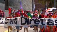 Em Natal, manifestantes pedem saída de Temer e convocação de eleições diretas (Reprodução/Inter TV Cabugi)
