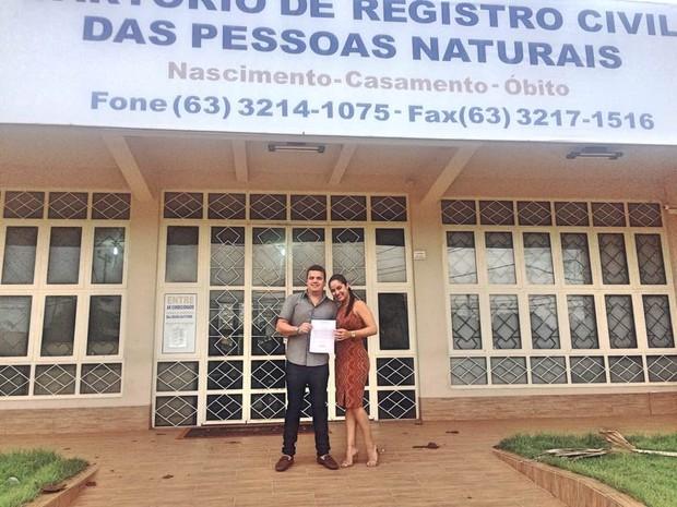 Casal oficializou união recentemente (Foto: Arquivo Pessoal)