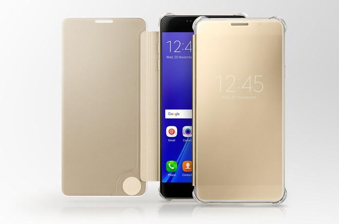 Capa Galaxy Clear View permite acessar funções na tela do celular (Foto: Divulgação/Samsung)